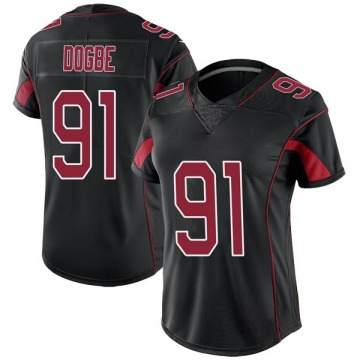 Women's Michael Dogbe Arizona Cardinals Limited Black Color Rush Jersey