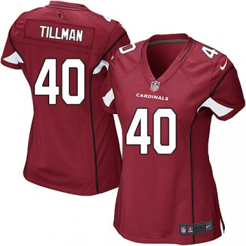 Women's Pat Tillman Arizona Cardinals Game Red Team Color Jersey